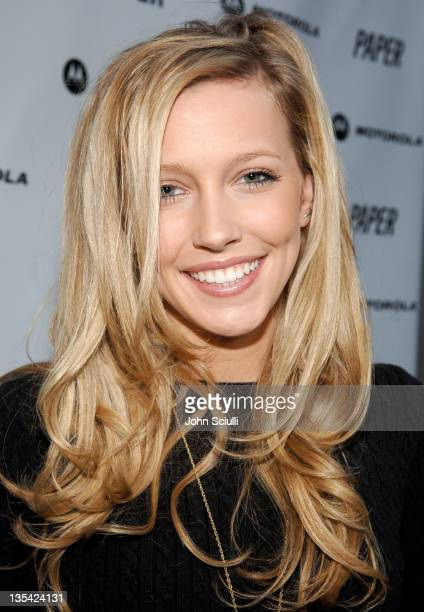 Katie Cassidy during PAPER Magazine & Motorola Present the Beautiful People Party West at Social Hollywood in Los Angeles, California, United States.