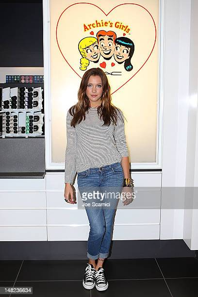Katie Cassidy Stops By M*A*C Cosmetics for an ArchieInspired illustration to support M*A*C Archie's Girls coming spring 2013 on July 12 2012 in San...