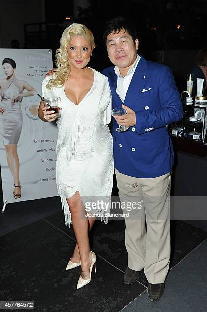 Katie Cazorla and guest attend The Painted Nail Flagship Store Launch at the W Hollywood on October 23 2014 in Hollywood California