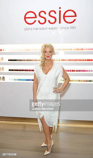 Katie Cazorla attends The Painted Nail Flagship Store Launch at the W Hollywood on October 23 2014 in Hollywood California