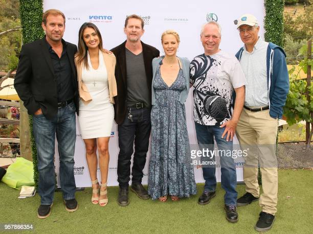 Katie Cleary Alison Eastwood Stacy Poitras Louie Psihoyos and guest attend the Eastwood Ranch Foundation's Wags Whiskers and Wine Event on May 12...