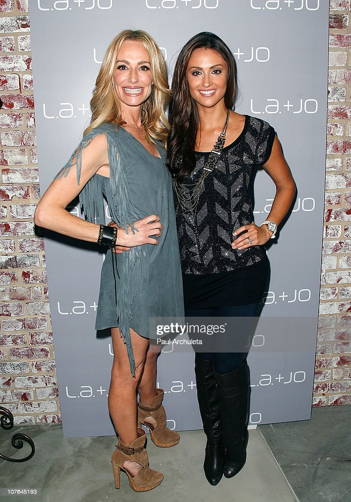 Katie Cleary (R) and Taylor Armstrong (L)attend the opening of the L.a. & JO Store with The Real Housewives Of Beverly Hills/Orange County at L.a. & JO on December 16, 2010 in Santa Monica, California.
