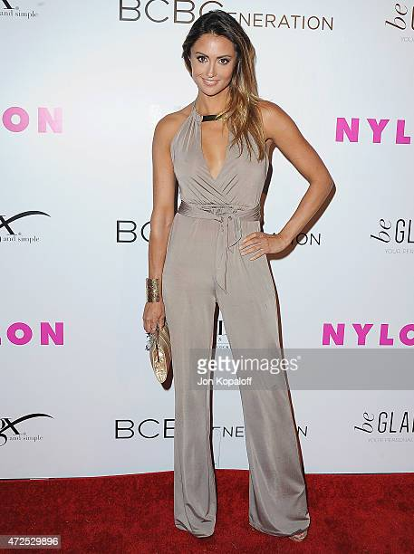Katie Cleary arrives at NYLON Magazine And BCBGeneration Annual May Young Hollywood Issue Party Hosted By May Cover Star Dakota Fanning at HYDE...