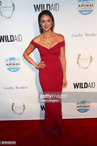 Katie Cleary arrives at the Evening with WildAid at the Beverly Wilshire Four Seasons Hotel on November 11 2017 in Beverly Hills California