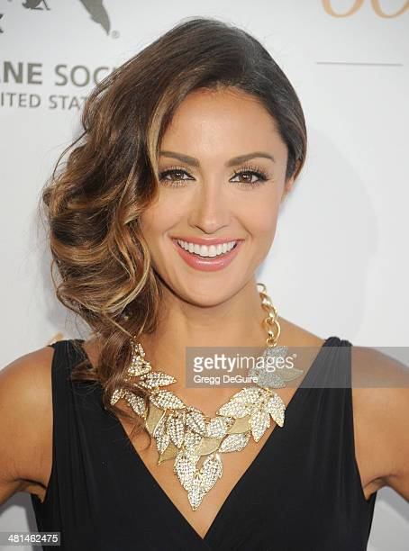Katie Cleary arrives at The Humane Society Of The United States 60th anniversary benefit gala at The Beverly Hilton Hotel on March 29 2014 in Beverly...