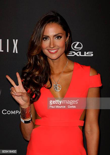 Katie Cleary arrives at the Weinstein Company Golden Globes AfterParty