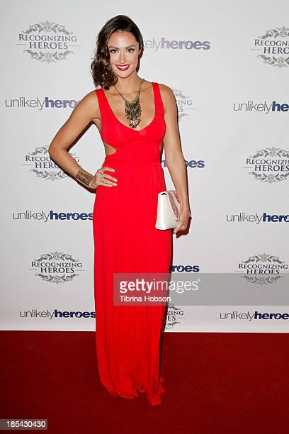 Katie Cleary attends at the Unlikely Heroes' recognizing heroes awards dinner And gala at W Hollywood on October 19 2013 in Hollywood California