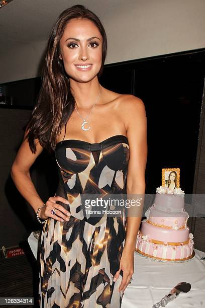 Katie Cleary attends her surprise 30th birthday party at Fisherman's Village on September 24 2011 in Marina del Rey California