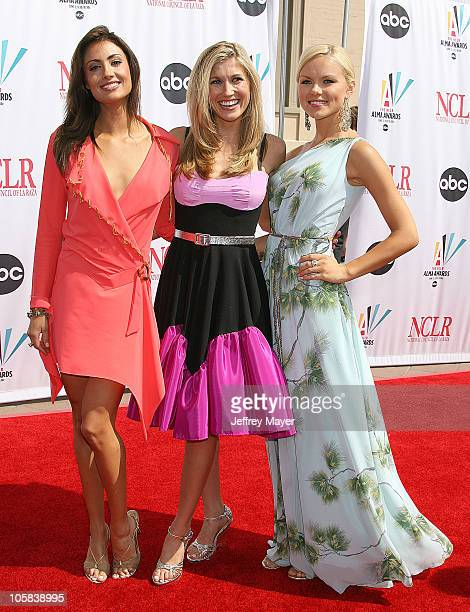 Katie Cleary Lindsay Clubine and Anya Monzikova during 2006 NCLR ALMA Awards Arrivals at Shrine Auditorium in Los Angeles California United States