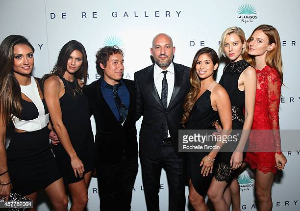 Katie Cleary Megan Abrigo John Tew Steph Sebbag Sherry Landry Taylor Reynolds and Colleen Baxter attend the Brian Bowen Smith WILDLIFE show hosted by...