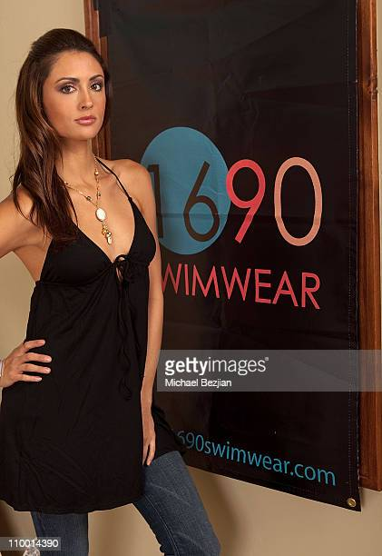 Katie Cleary poses at the 1690 Swimwear Portrait Studio at the Sundance Film Festival at The Green Lodge on January 17th 2009 in Park City Utah