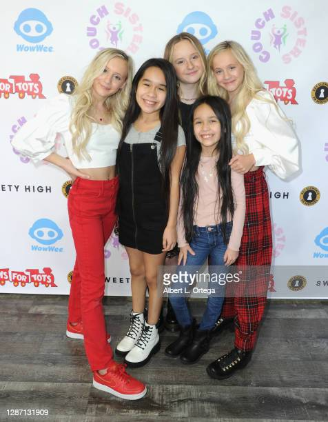 Katie Couch, Alysa Gutierrez Sierra, Mackenzie Couch, Lexi Gutierrez Sierra and Kameron Couch at the 2nd Annual Toys For Tots Toy Drive held at The...