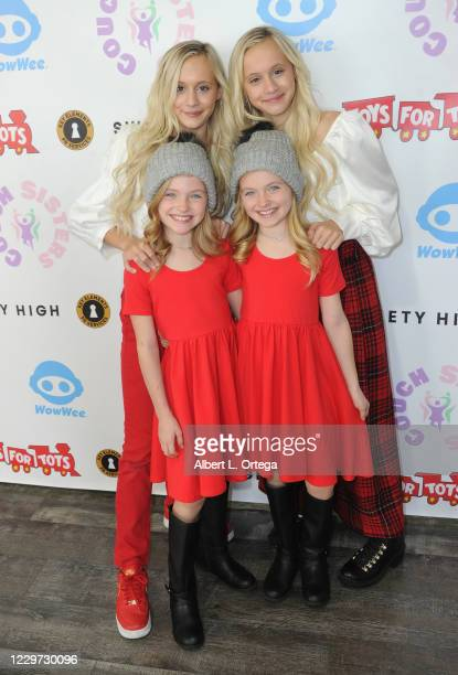 Katie Couch, Kameron Crouch, Mia Allan, Ella Allan attend the 2nd Annual Toys For Tots Toy Drive held at The Industry Loft Space on November 21, 2020...