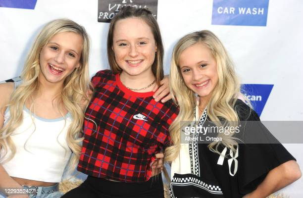 Katie Couch, MacKenzie Couch and Kameron Couch arrive for FA Vision Productions' Terror Farm Tunnel Red Carpet Opening Night Preview To Benefit The...