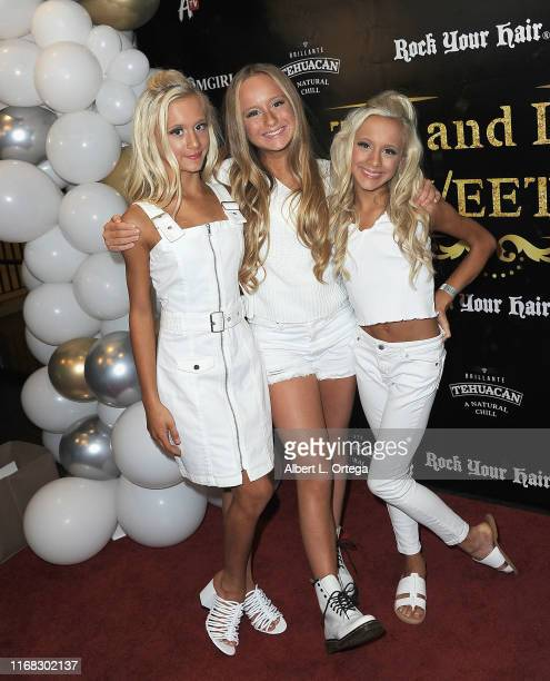 Katie Couch, Mackenzie Couch and Kameron Couch arrive for Lily Chee And Tati McQuay Celebrate Their 16th Birthday held at The Venue of Hollywood on...