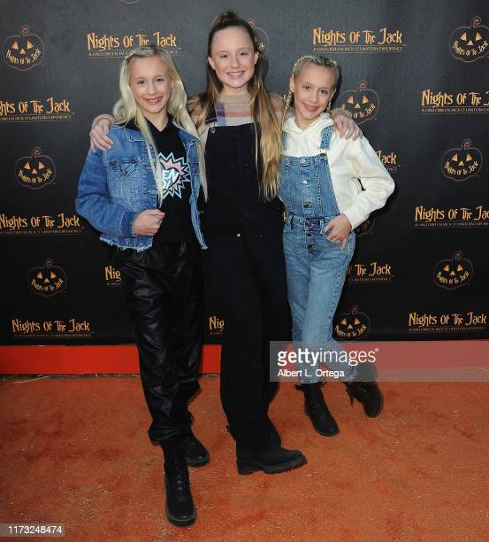 Katie Couch Mackenzie Couch and Kameron Couch arrive for Nights Of The Jack Friends Family VIP Preview Night held at King Gillette Ranch on October 2...