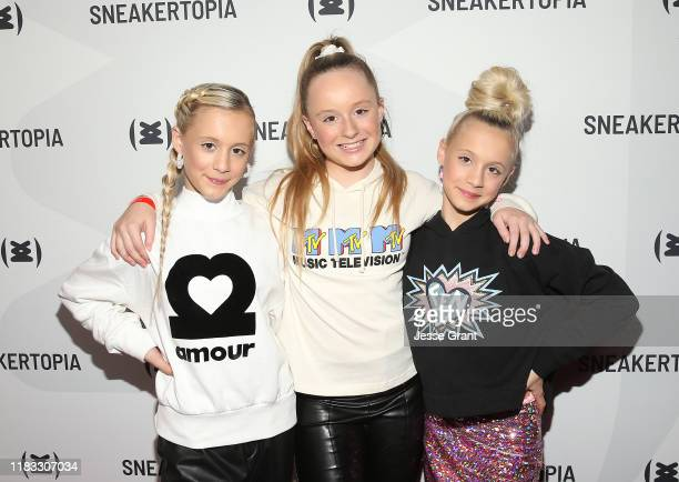 Katie Couch Mackenzie Couch and Kameron Couch attend the Sneakertopia Los Angeles VIP Preview at HHLA on October 24 2019 in Los Angeles California