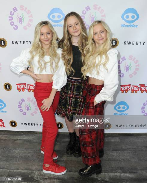 Katie Couch, Mackenzie Couch and Kameron Couch host the 2nd Annual Toys For Tots Toy Drive held at The Industry Loft Space on November 21, 2020 in...