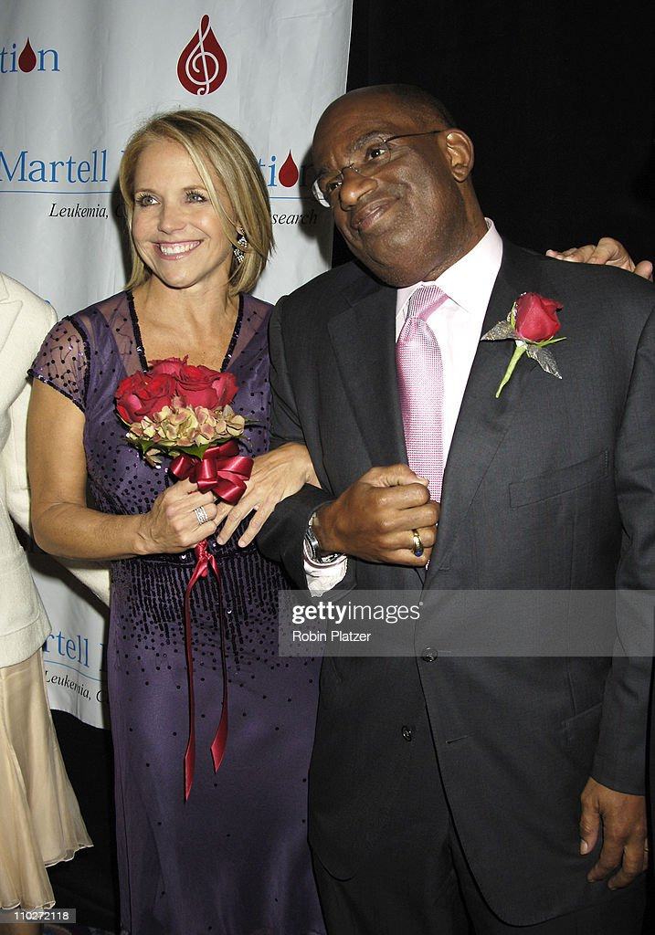Katie Couric and Al Roker during 30th Annual TJ Martell Foundation Gala at The Marriott Marquis Hotel in New York, New York, United States.