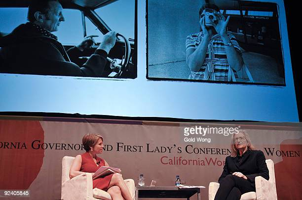 Katie Couric and Annie Leibovitz attend The 2009 Women's Conference at Long Beach Convention Center on October 27 2009 in Long Beach California