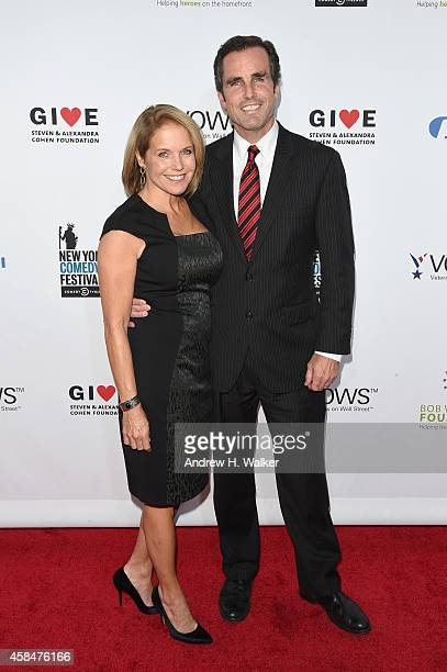 Katie Couric and Bob Woodruff attend 2014 Stand Up For Heroes at Madison Square Garden on November 5 2014 in New York City