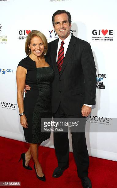 Katie Couric and Husband John Molner attend the 2014 Stand Up For Heroes at Madison Square Garden on November 5 2014 in New York City