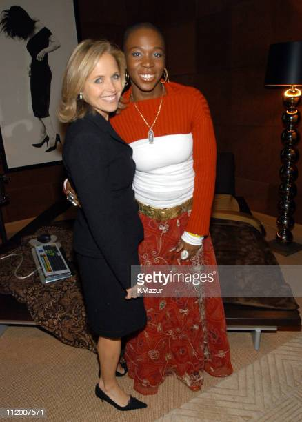 Katie Couric and India.Arie during The NCCRA Fundraiser Hosted by Katie Couric at the Esquire Apartment 2003 at Esquire Apartment, Trump World Tower...