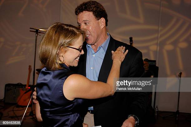 Katie Couric and Jake Steinfeld attend American Institute for Stuttering Gala Luncheon at Queen Mary 2 Red Hook on June 10, 2007 in Brooklyn, New...