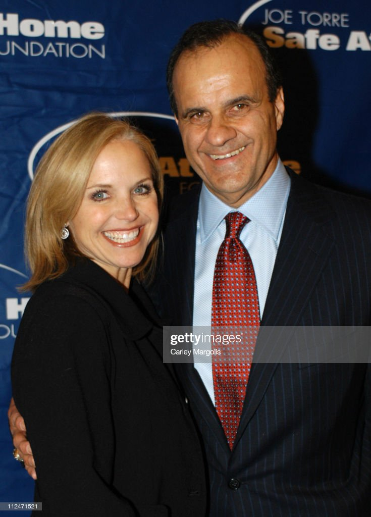 Katie Couric and Joe Torre during Joe Torre Safe at Home Foundation's Second Annual Gala at Pierre Hotel in New York City, New York, United States.