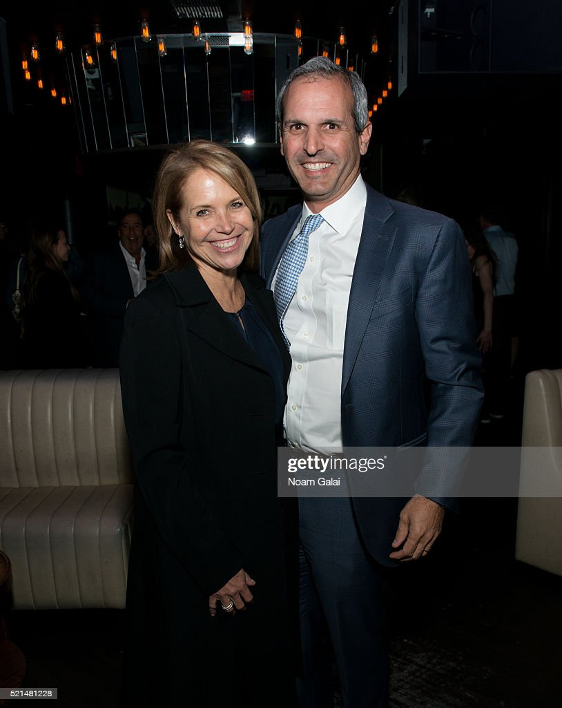 Katie Couric and John Molner attend the 'Wolves' after party during 2016 Tribeca Film Festival at No. 8 on April 15, 2016 in New York City.