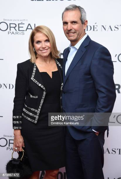 Katie Couric and John Molner attends Glamour's 2017 Women of The Year Awards at Kings Theatre on November 13 2017 in Brooklyn New York