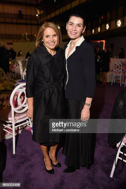 Katie Couric and Juliana Margulies attend the Eighth Annual Women In The World Summit at Lincoln Center for the Performing Arts on April 5 2017 in...
