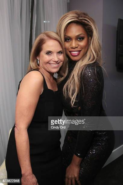 Katie Couric and Laverne Cox attend Glamour's 2017 Women of The Year Awards at Kings Theatre on November 13 2017 in Brooklyn New York