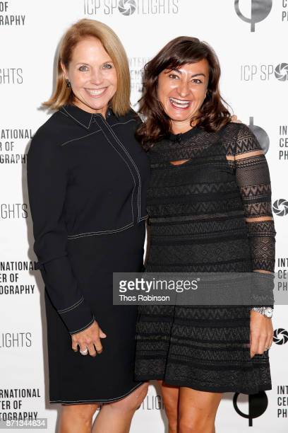 Katie Couric and Lynsey Addario attend The 2017 ICP spotlights luncheon honoring Pulitzer PrizeWinning photojournalist Lynsey Addario on November 7...