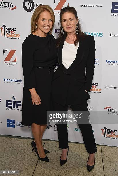 Katie Couric and Maura Tierney attend 'Cancer The Emperor of All Maladies' New York Screening at Jazz at Lincoln Center on March 24 2015 in New York...