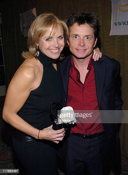 Katie Couric and Michael J Fox during 'A Funny Thing Happened on the Way to Cure Parkinson's' A Benefit Evening for the Michael J Fox Foundation for...