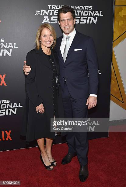 Katie Couric and nephew writer/diretor Jeff Wadlow attend the 'True Memoirs Of An International Assassin' New York premiere at AMC Lincoln Square...