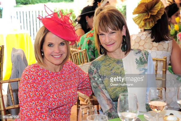 Katie Couric and Patricia Harris attend 36th Annual Frederick Law Olmsted Awards Luncheon Central Park Conservancy at The Conservatory Garden in...