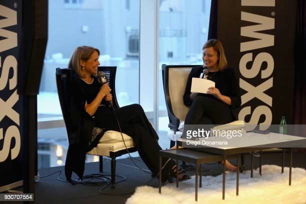 Katie Couric and Politico's Anna Palmer speak at the Featured Speaker Connect with Katie Couric during SXSW at Fairmont Austin on March 11 2018 in...