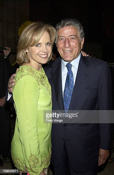 Katie Couric and Tony Bennett during Sesame Street Celebrates 35 Years of Making A Difference in the Lives at Gala Honoring Kofi and Nane Annan at...