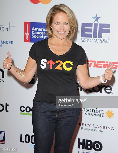 Katie Couric arrives at Hollywood Unites For The 4th Biennial Stand Up To Cancer A Program Of The Entertainment Industry Foundation at Dolby Theatre...