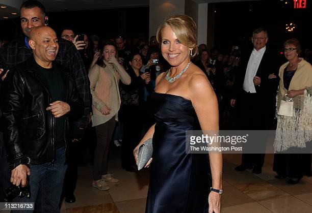 Katie Couric arrives for the Gridiron Dinner at the Renaissance Hotel in Washington DC on March 12 2011