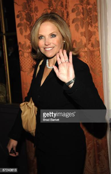 Katie Couric arrives to the Women In Communication Inc 2006 Matrix Awards at the Waldorf Astoria Hotel on April 3 2006 in New York City