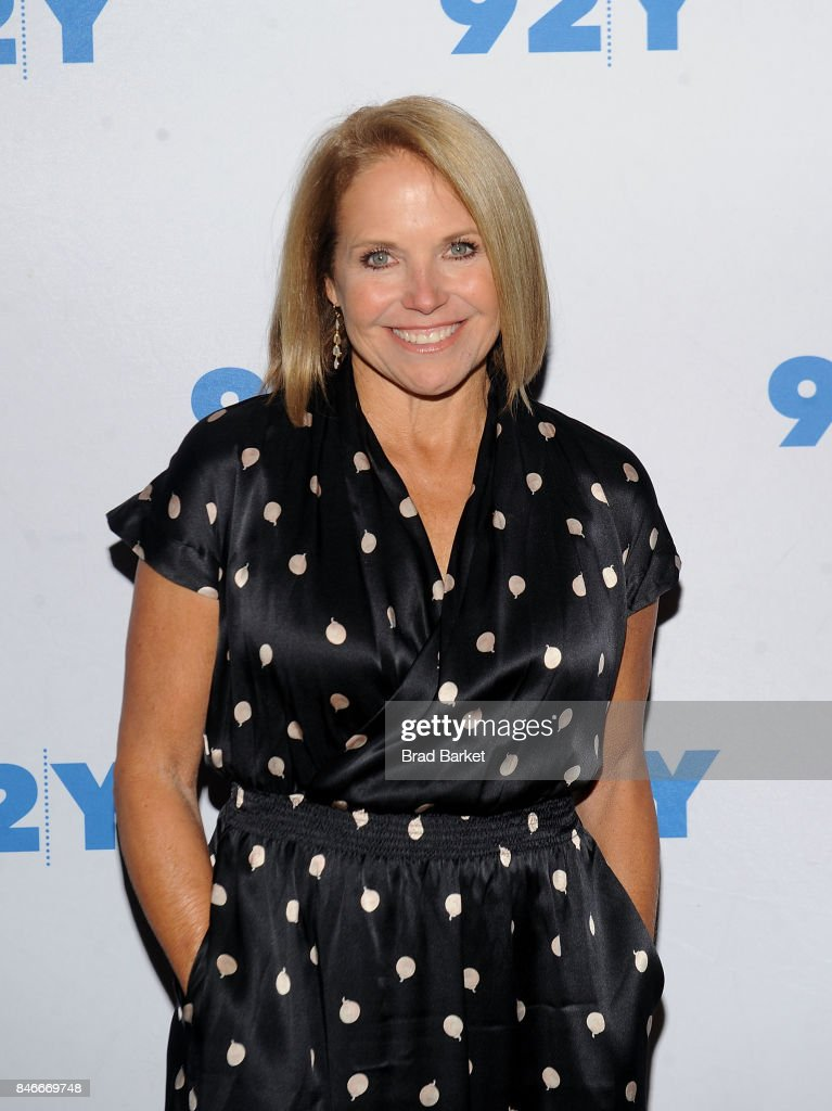 Katie Couric attends Maria Sharapova in conversation at 92nd Street Y on September 13, 2017 in New York City.