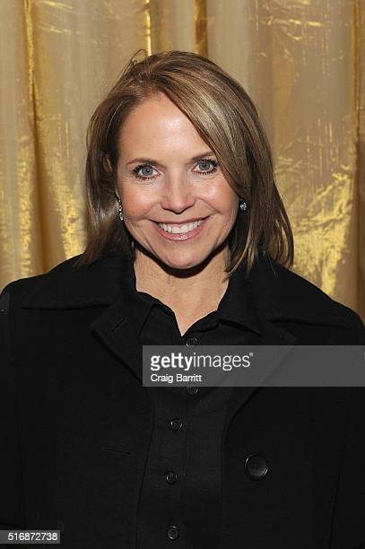 """Katie Couric attends National Geographic Channel's world premiere screening of """"The Story of God with Morgan Freeman"""" at Jazz at Lincoln Center on..."""