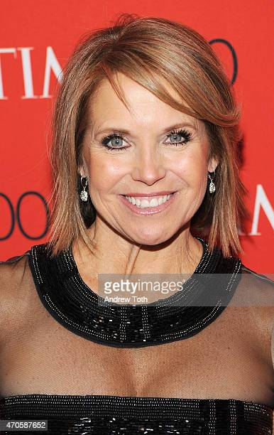 Katie Couric attends the 2015 Time 100 Gala at Frederick P Rose Hall Jazz at Lincoln Center on April 21 2015 in New York City