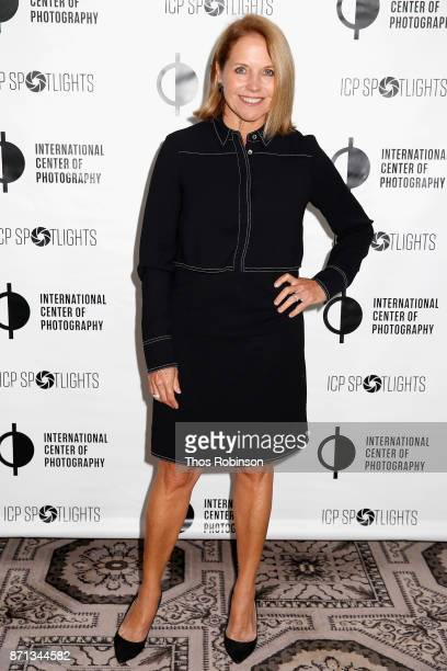 Katie Couric attends The 2017 ICP spotlights luncheon honoring Pulitzer PrizeWinning photojournalist Lynsey Addario on November 7 2017 in New York...