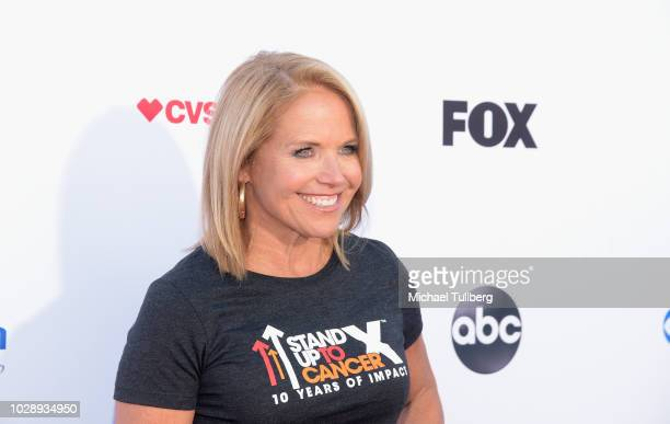 Katie Couric attends the 2018 Stand Up To Cancer fundraising special telecast at Barker Hangar on September 7 2018 in Santa Monica California