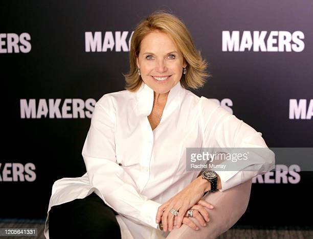 Katie Couric attends The 2020 MAKERS Conference on February 11 2020 in Los Angeles California
