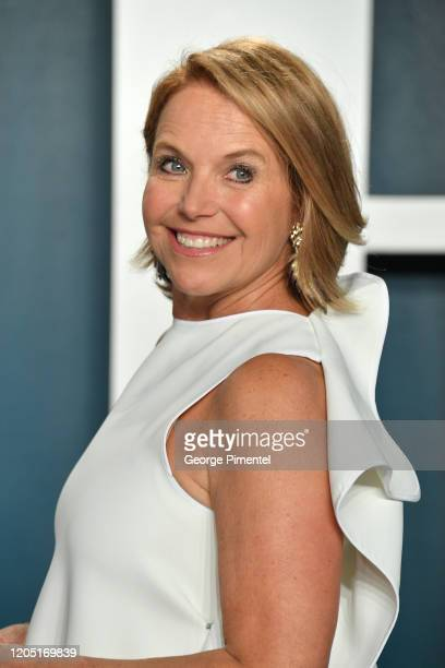 Katie Couric attends the 2020 Vanity Fair Oscar party hosted by Radhika Jones at Wallis Annenberg Center for the Performing Arts on February 09 2020...